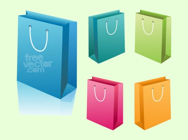 Shopping Paper Bags Vector Graphics