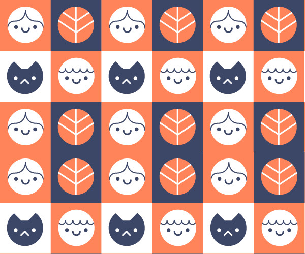 Silly doodle pattern