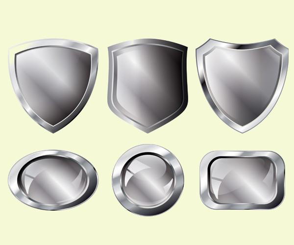 silver metal series vector