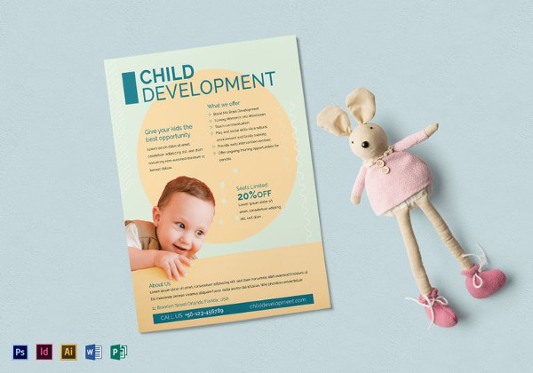 Simple Child Development Flyer Template
