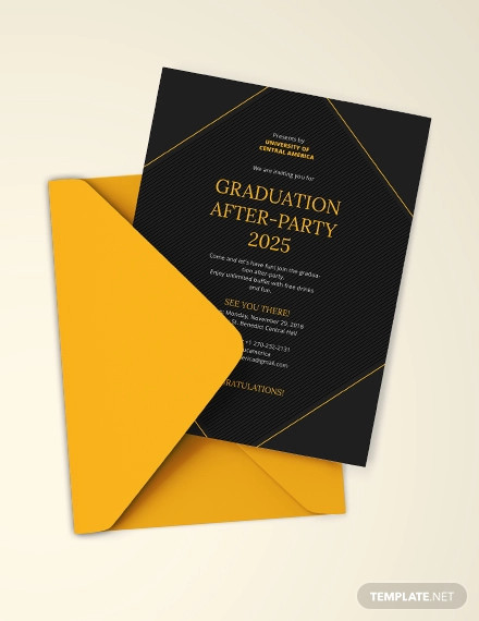simple graduation party invitation