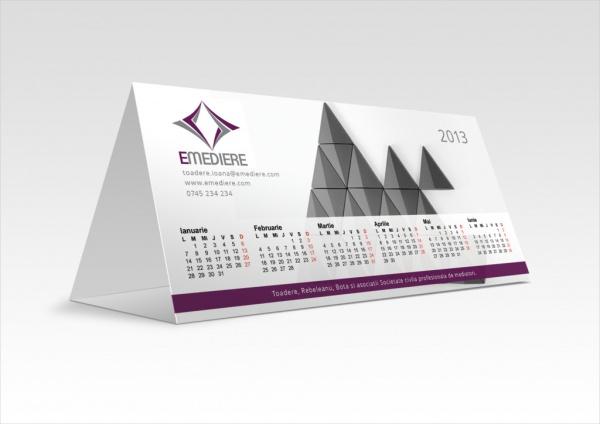 simple realistic calendar mock up