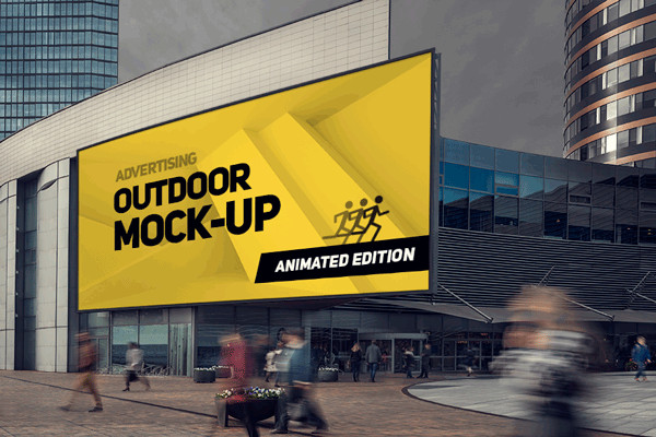 Smart Animated Outdoor Mockup
