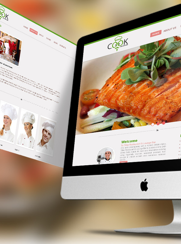 Smart Cook Website Restaurant Mockup