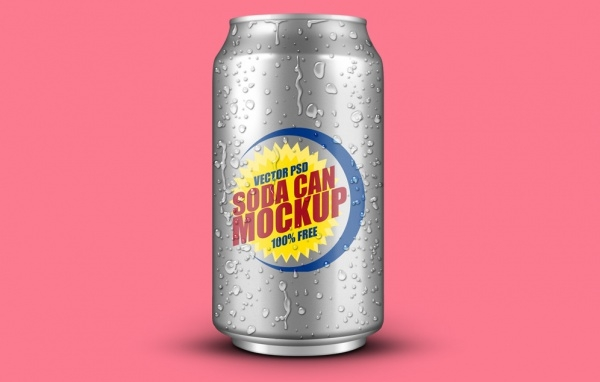 Soft Drink Can PSD Packaging MockUp