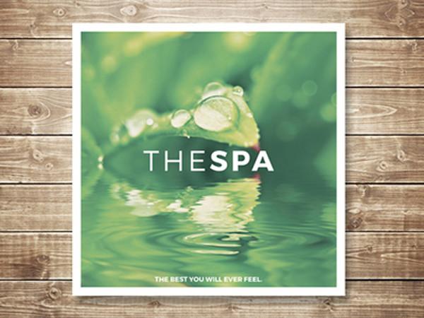 Spa Square Tri-fold Brochure Mockup