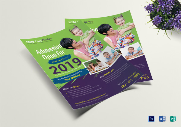 Special Child Care Centre Flyer Template
