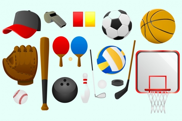 sports tools vector graphics