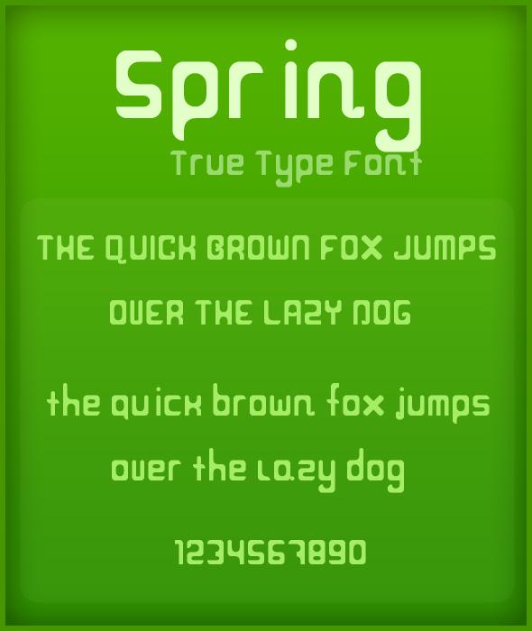 Spring Sans-Serif font