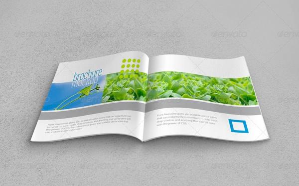 Square Brochure Realistic Mockup