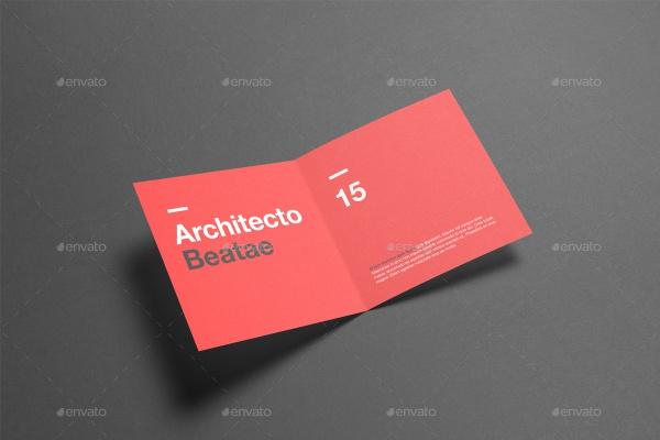 Square HAlf Fold Brochure Mock-Up