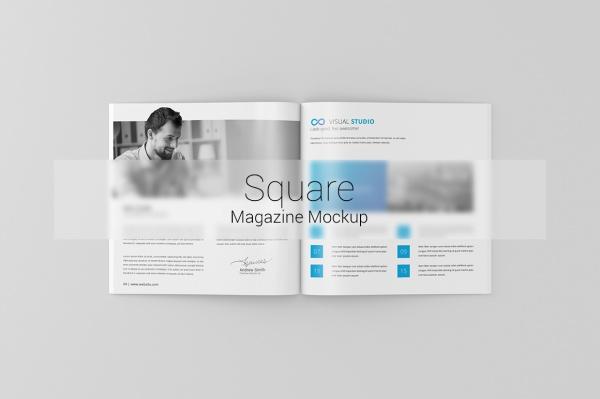 Square Magazine Brochure Mock-Up