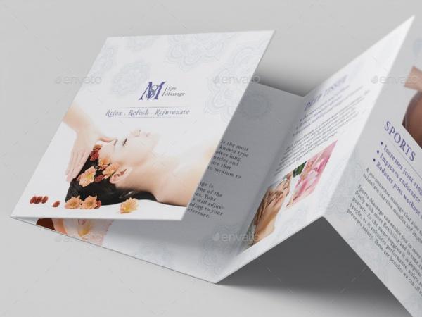 Square Mini Brochure Mockups