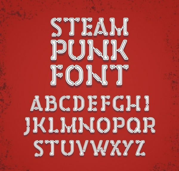 Steampunk Fantasy font