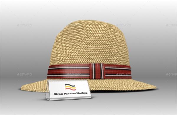 Straw Panama Hat Mock-up