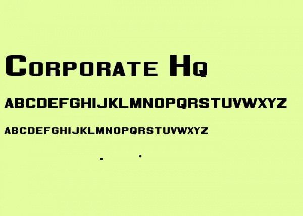 Stunning Corporate HQ Font
