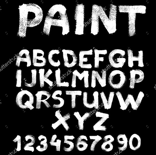 Stunning Paint Stroke Font
