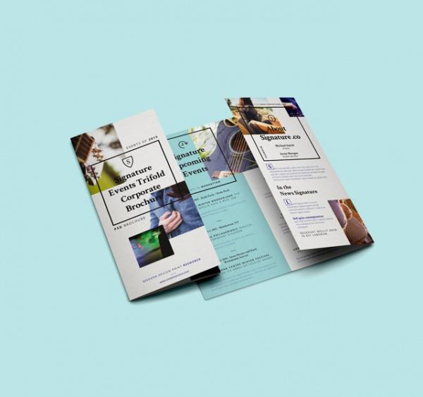 Stunning Signature Tri Fold Brochure