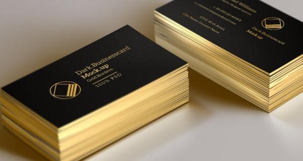 Stylish Flat Folded Card Mock-Up