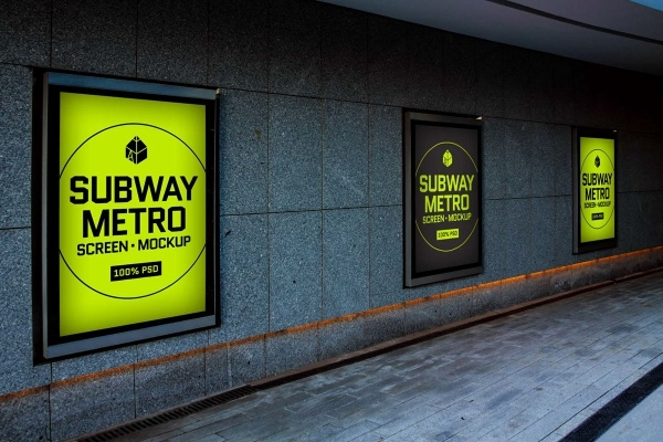 Subway Metro Screen Mock-Up