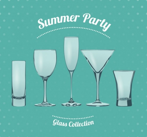Summer party glasses Vector
