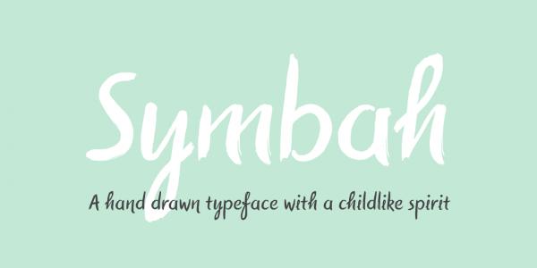 Symbah Artistic Font