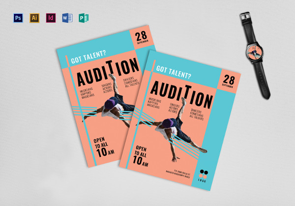 talent show audition flyer template