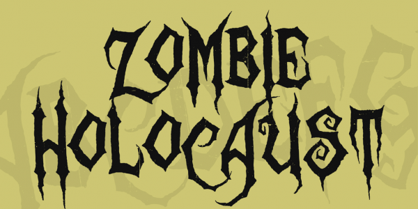 Tapered Halloween Display Font