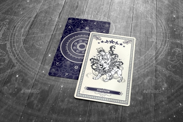 Tarot Poker Card Mock-up