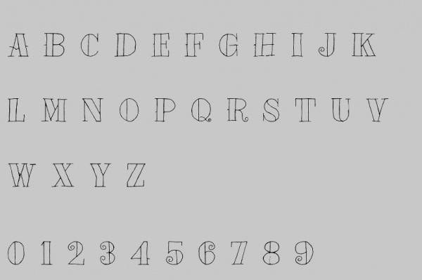 Tat Style Artistic Font