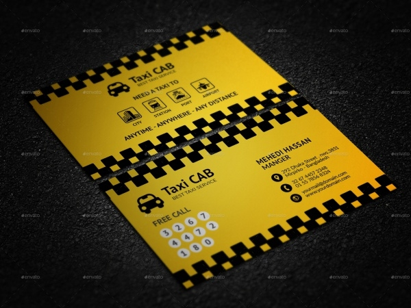 Taxi Cab Service Business Card