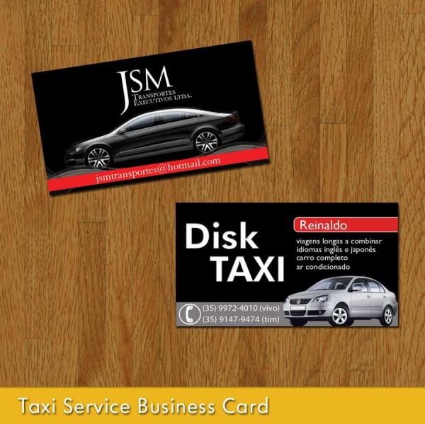 Taxi Service Business Card Design
