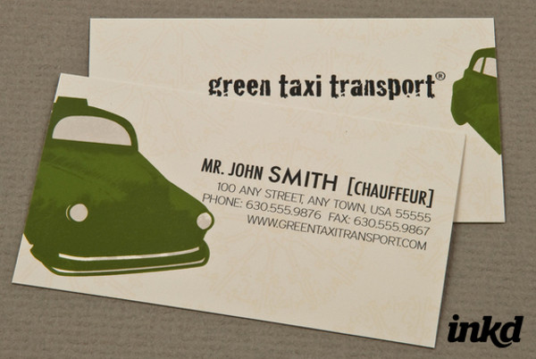 Taxi Transport Business card