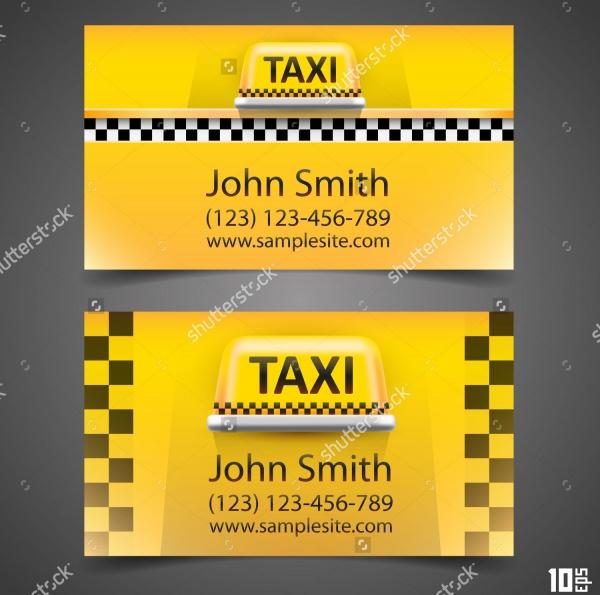Taxi business card Vector