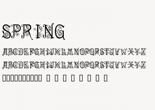 Thick Outlined Spring Font