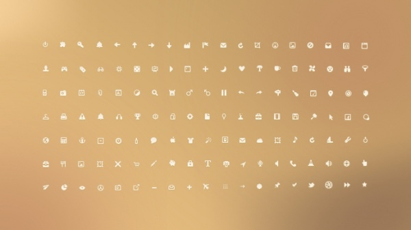 Tiny UI Icons PSD