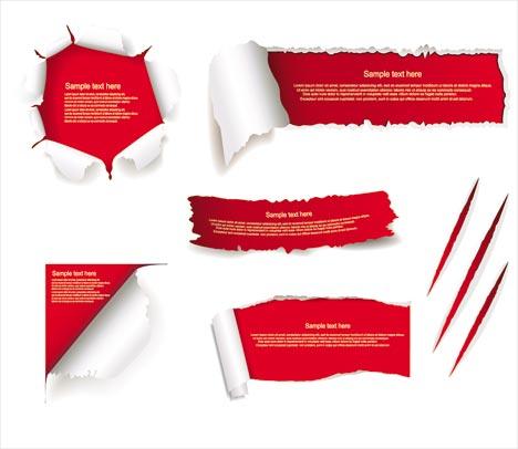 Torn Paper Vector Set