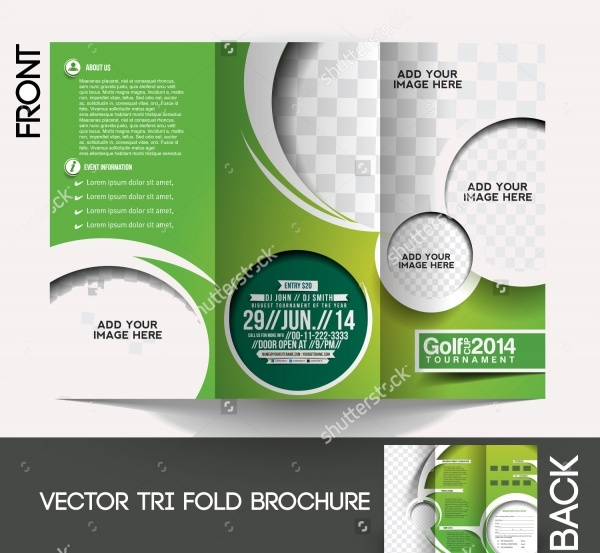 Tri-Fold Golf Tournament Brochure