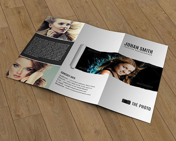 Tri-fold Brochure For Photography