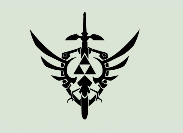 Triforce Shield design vector