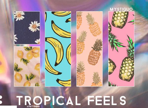 tropical feels patterns