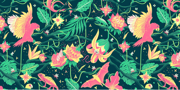 Tropicana illustration Pattern
