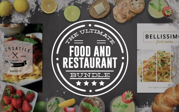 Ultimate Food and Restaurant Bundle Mockup