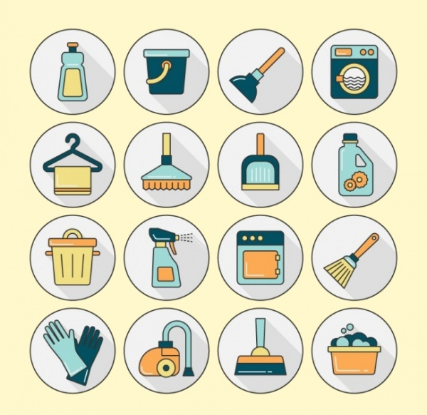 Vaccum Cleanliness Icons