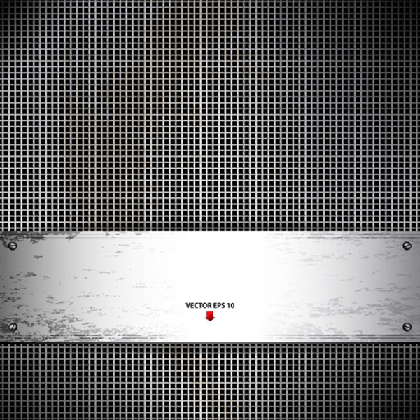 vector of metal technology background