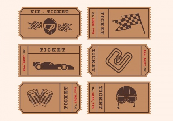 Vector Ticket Mockup