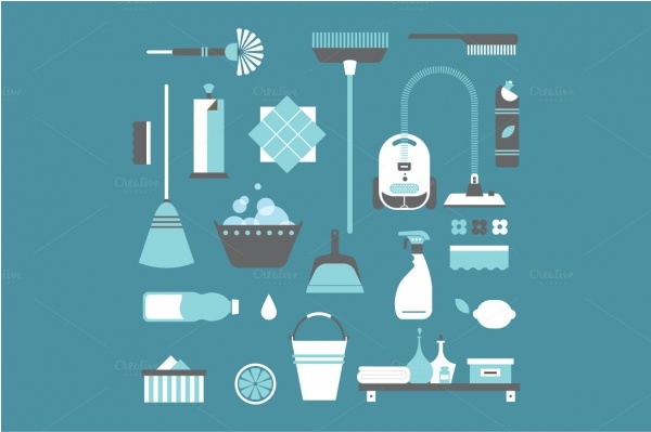 Vector cleaning icons For You