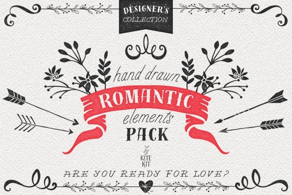 Vintage Romantic Elements Font