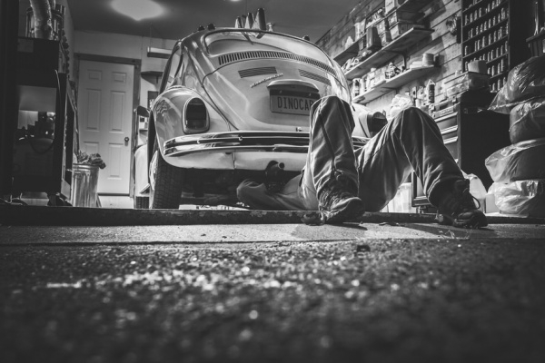 Volkswagen Beetle Garage Photography
