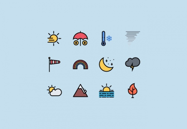 Weather & Insurance Icons